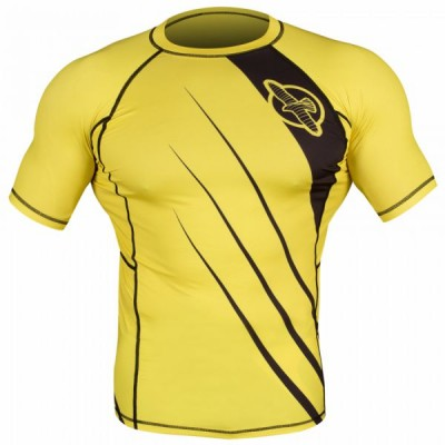 Рашгард Hayabusa Recast Rashguard Short Sleeve - Yellow/Black