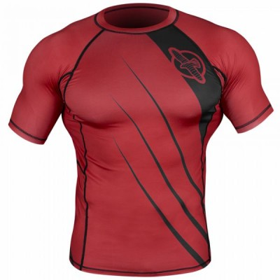 Рашгард Hayabusa Recast Rashguard Short Sleeve - Red/Black