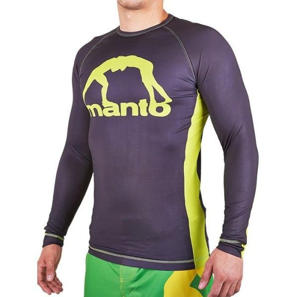 Рашгард Manto Logo long black - yellow